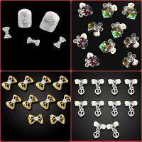 "20 Styles"" DIY 3D Nail Art Decoration Bows Flowers Roses Rhinestone Gems Stickes"