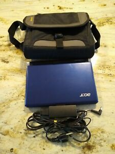 Acer Aspire One D250 Blue Netbook Laptop With Carrier Bundle Windows 7 Ultimate
