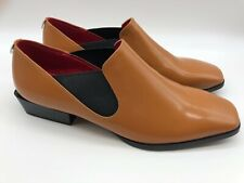 New Calvin Klein Women's Geneve Brown Loafer Leather Size 9