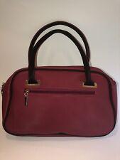 Lacoste Burgundy Bowling Bag Zip Top Handle Purse Tote Satchel