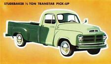 Old Print. Green 1956 Studebaker 1/2 Ton Transtar Pick-Up Truck Ad
