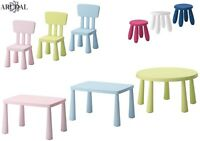 IKEA MAMMUT SERIES Kids Chairs, Stools, Tables, In/Outdoor, Various Colours