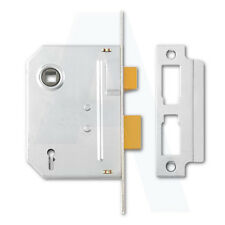 """Yale PM246 2 Lever Sashlock 64mm/2.5"""" Mortice Door Chrome Plated Keyed To Differ"""
