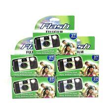 Lot of 5 Fujifilm QuickSnap Flash Disposable Cameras (27 exposures ea) FREE SHIP