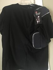 5 Padded Black Adult L CRAMER Football Shirt New $39.99