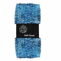 Christmas Tree Decoration 50ft x 3cm Tinsel Great Value - Blue