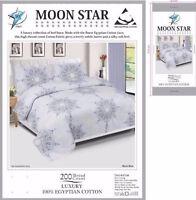 Egyptian Cotton Duvet Cover Set 200TC Quilt Bedding Set+Pillow Cases & bed Sheet
