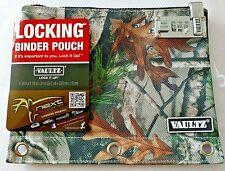 Vaultz Zippered Nylon Binder Pouch with Combination Lock Next Camouflage
