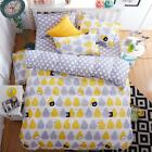 Single Double Queen King Size Bed Set Pillowcase Quilt/Duvet Cover OAUr Pear Pig