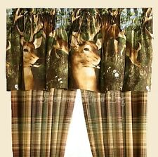 "Hunting Lodge WHITETAIL DEER 20""wx84""l VALANCE Wildlife WINDOW Treatment"