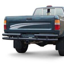 For Toyota Pickup 79-94 Bumper Full Width Black Rear Tubular Bumper w Class III