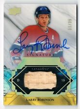 2019-20 Upper Deck Engrained Rare Remnants Signatures Auto Larry Robinson 11/35