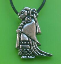 Viking Valkyrie Peltre Colgante Collar-hecho a mano en Escocia-nórdico