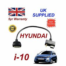 For Hyundai i10 iPhone 3gs 4 4s iPod USB & Aux Audio Cable MY2012+