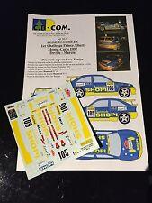 DECALS 1/24 FORD ESCORT DEVILLE RALLYE MONTE CARLO 1997 RALLY WRC TAMIYA