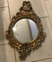 Antique Italian Florentine Gold Gilt Mirror 27.25 x 17.5