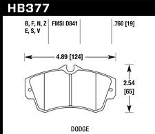 Hawk HP+ Front Brake Pads For 01-10 Dodge Neon /Chrysler PT Cruiser #HB377N.760