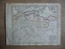Rare carte AFRIQUE DU NORD - BARBARIE - Atlas Géographique Hérisson, 1806