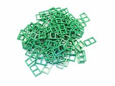 LEGO Green Window 1x2x3 Pane Thick Corner Tabs Lot of 100 Parts Pieces 60608