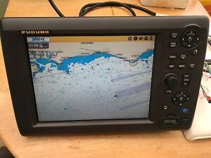 Furuno Chart plotter Navnet 3D MFD12.  Echosounder & Radar display.