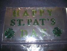Gel Window Clings Happy St. Pat's Day Irish Shamrocks