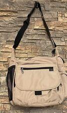 LL Bean Shoulder Messenger Bag Medium Tan Unisex Book Campus Hiking Clean!