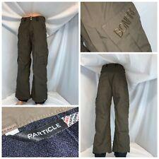 Bonfire Particle Fusion Snowboard Pants S Men Brown Nylon Lined YGI C0-933