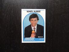 1989 1990 NBA Hoops Announcer Card Marv Albert MSG Promo Basketball Card