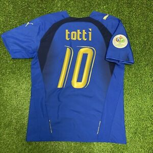 2006 Francesco Totti Italy Jersey Shirt Kit Small S Puma Blue Home World Cup 10