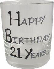 21st Regalo Cumpleaños WHISKY CRISTAL NEGRO/PLATA