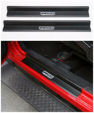 Aluminum Door Sill Scuff Plate Protector For 07-2018 Jeep Wrangler JK 2dr Black