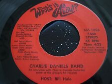 Rare Willie Nelson Charlie Daniels Band 45 : Interviews ~ What's It All About ?