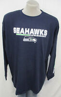 Seattle Seahawks Men's Big & Tall 3XL Long Sleeve Shirt NFL Navy Blue A14