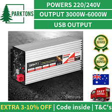 Giantz 3000W/6000W Pure Sine Wave Power Inverter 12V-240V DC-AC Power Portable