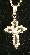 1/20 14K Gold Filled Cross and Dove Necklace