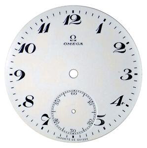 Orig. NOS Vintage Omega Porcelain Pocket Watch Dial with Sunken Seconds Track #4