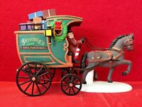 Fezziwig Delivery Wagon Dept 56 Heritage Village 58400 Christmas Carol cart A