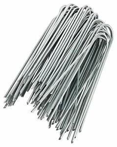 100 Picchetti da 150mm Ø 2,9 mm, GALVANIZZATI per Telo Pacciamatura