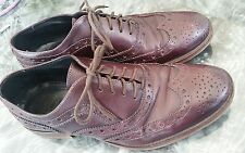 Kurt Geiger LUTHER  Leather Brogues IN Ox Blood Red, size 40 UK 6.5