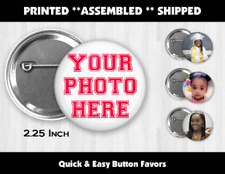 Custom Photo Pin Back Buttons