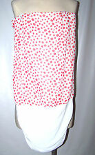 Dress De Colores Red White Polka Dots Size Small Strapless Dress Dance Party