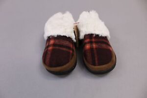 DF by Dearfoams Women's Flecked Clog Slippers MP7 Red Plaid Size US: Large/9-10