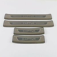 For Renault Captur Accessories Stainless Door Sill Scuff Plate Protector 2019