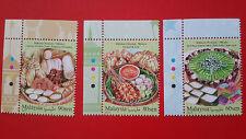 2017 Malaysian Festival Food Series Malay - Stamp Set