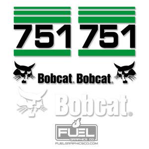 Bobcat 751 Skid Steer Loader Premium Vinyl Decal Kit - Equipment Graphics