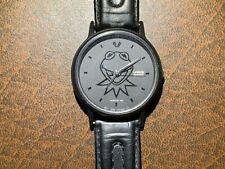 Vintage Character, Kermit Frog, Wrist Watch, Henson 1994, Black on Black