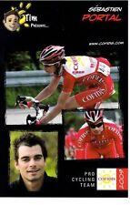 CYCLISME carte cycliste SEBASTIEN PORTAL équipe COFIDIS 2009
