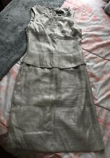 Jessica Howard Mother of the Bride Dress Silver Pearl Beads Rhinestones M 8