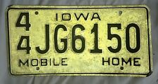 VINTAGE NOS IOWA LICENSE PLATE TRAILER MOBILE HOME 60's 70's NEW HENRY CO IA