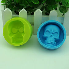Halloween 3D Skull Silicone Mold Chocolate Fondant Cake Decorating Baking Mould